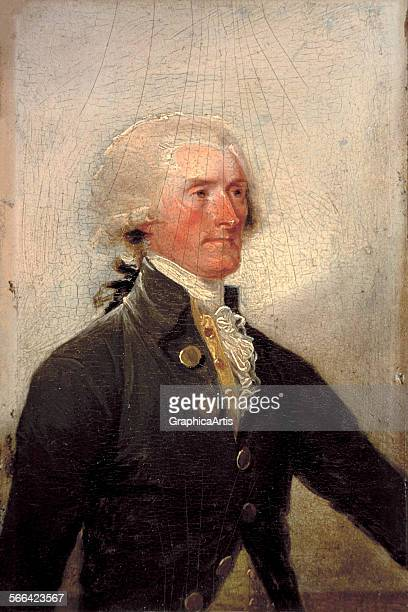 Portrait of Thomas Jefferson by John Trumbull oil on panel from the White House collection Washington DC