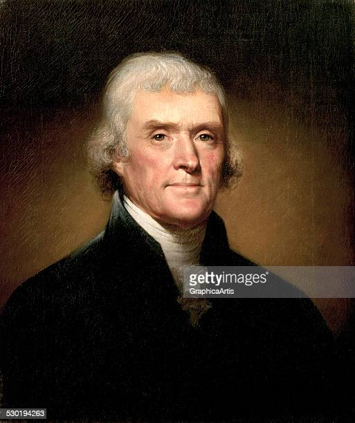 Portrait of Thomas Jefferson by Rembrandt Peale , 1853.