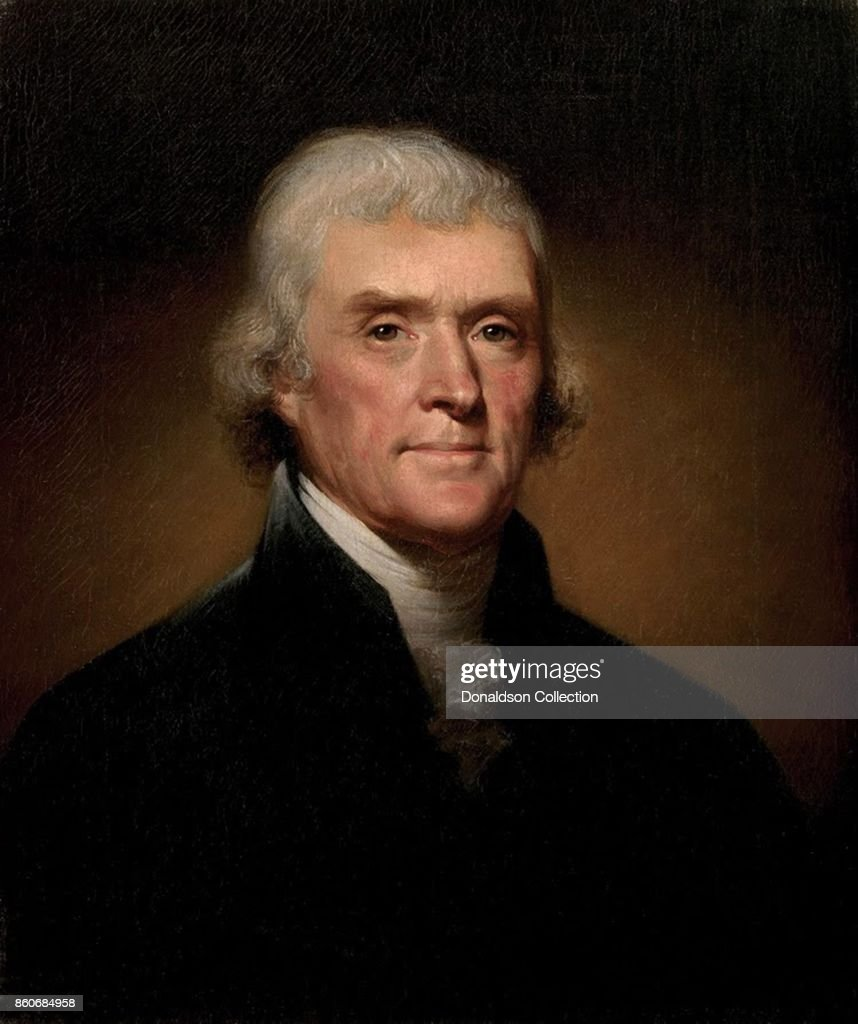 Portrait of Thomas Jefferson : News Photo