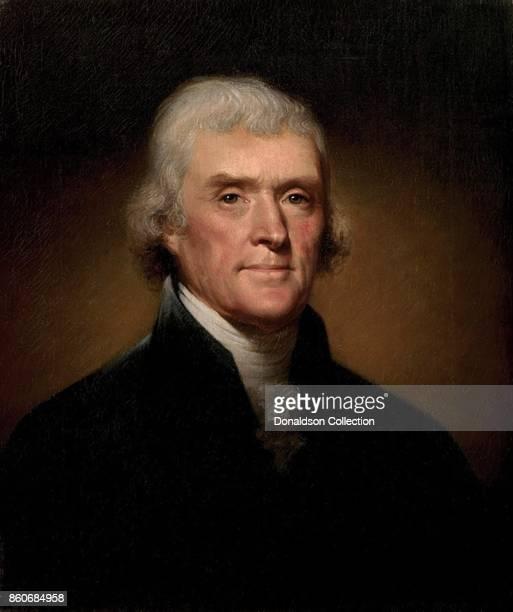 Portrait of Thomas Jefferson by Rembrandt Peale circa 1805