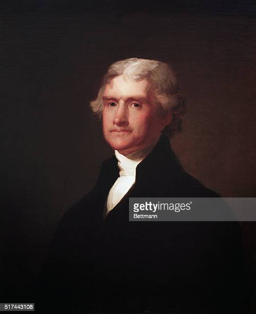 Portrait of Thomas Jefferson third president of the US Painting by Asher B Durand