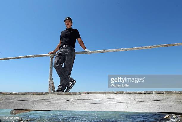 Portrait of Thorbjorn Olesen of Denmark during the pro am event prior to the Volvo World Match Play Championship at Thracian Cliffs Golf & Beach...