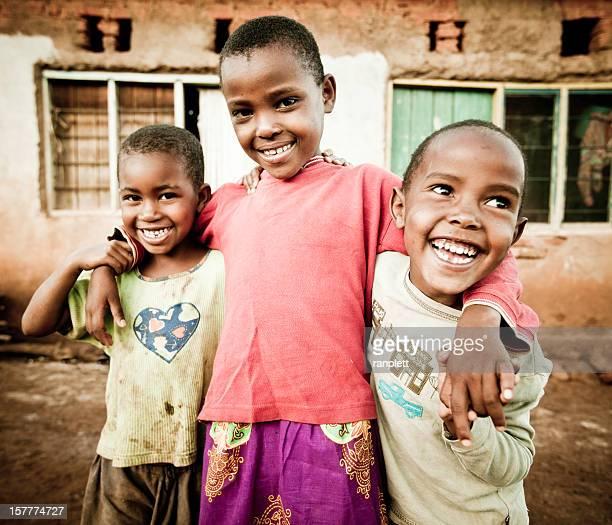 Portrait of Three African Children