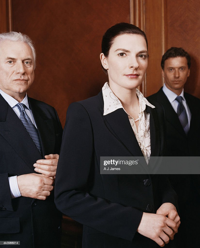 Portrait of Three Business Executives : Stock Photo