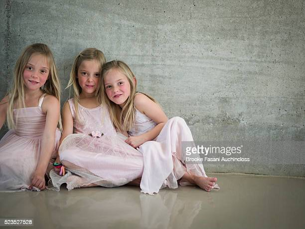 Portrait of three girls (5-6)