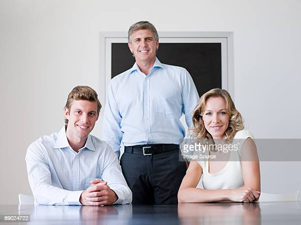 Portrait of three office workers
