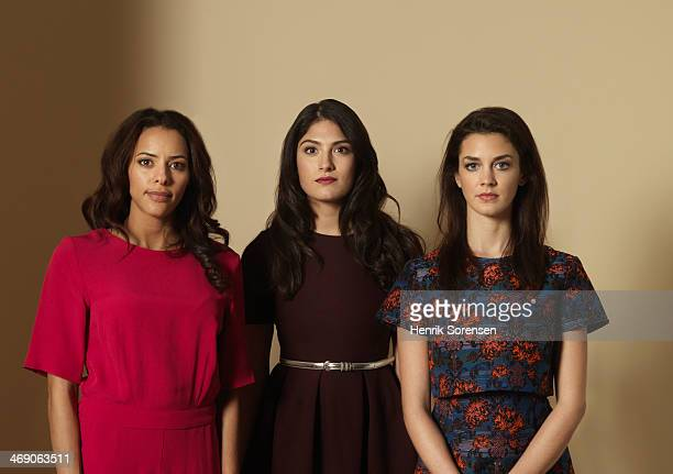 portrait of three serious-looking women - three people stock pictures, royalty-free photos & images