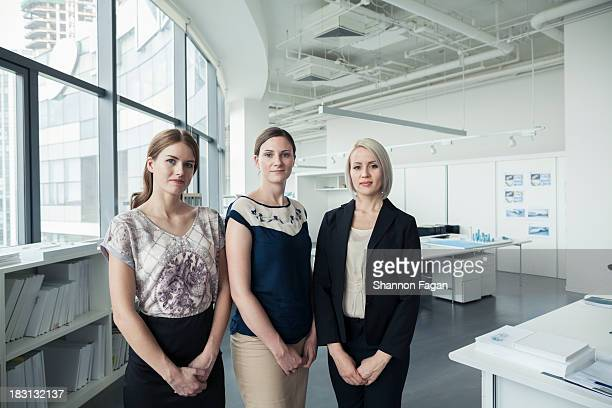 Portrait of three young businesswomen