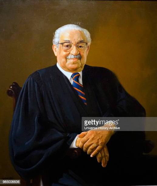 Portrait of Thurgood Marshall an Associate Justice of the Supreme Court Painted by Simmie L Knox an American artist Dated 20th Century