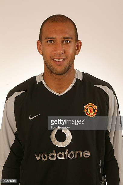 A portrait of Tim Howard during the Manchester United official photocall at Old Trafford on August 11 2003 in Manchester England
