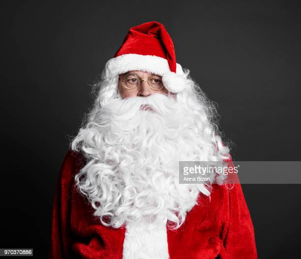 portrait of tired santa, studio shot. debica, poland - lazy poland stock photos and pictures