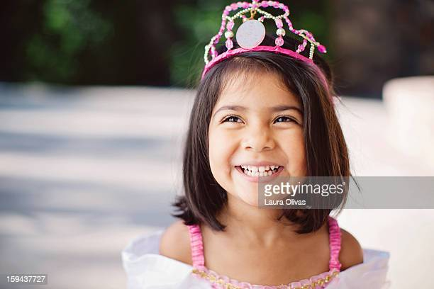 Portrait of Toddler Girl Dressed as a Princess