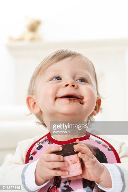 Portrait of toddler with chocolate on his face