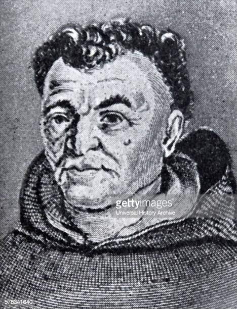 Portrait of Tommaso Campanella a Dominican friar Italian philosopher theologian astrologer and poet Dated 17th Century