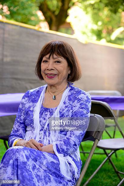 Portrait of Toshiko Akiyoshi backstage at the Vancouver Wine and Jazz Festival at Esther Short Park Vancouver Washington USA on 23rd August 2014