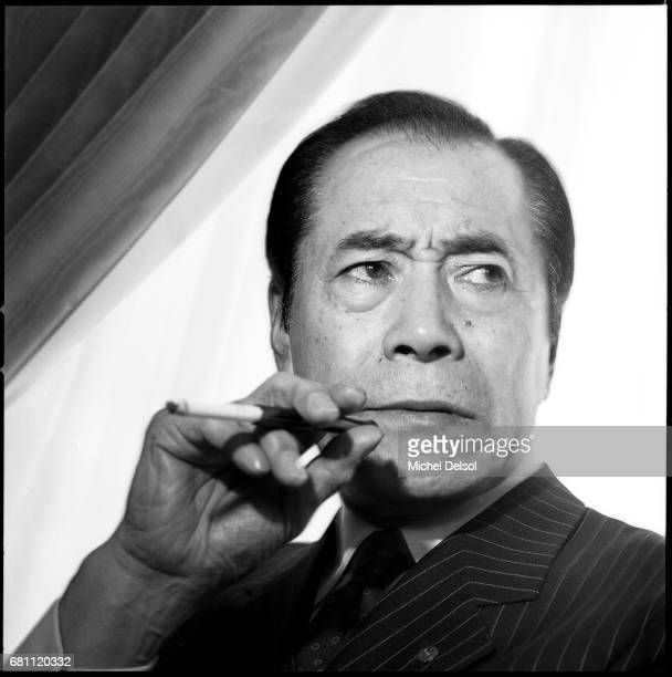 Portrait of Toshiro Mifune Japanese actor and producer at his West 57th street hotel New York City New York September 14 1987