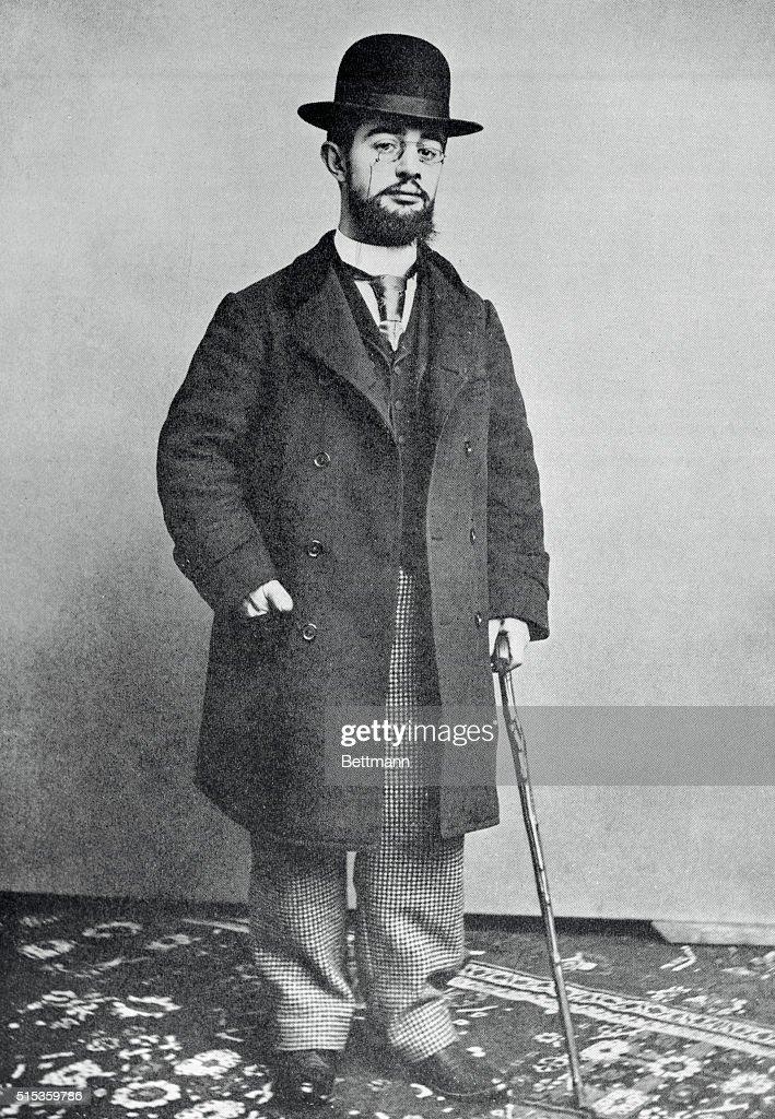 Portrait of Toulouse-Lautrec (1864-1901), French painter.