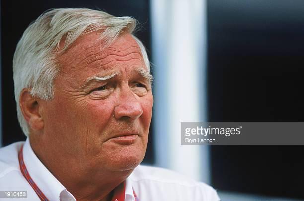 Portrait of Toyota team principal Ove Andersson during the Brazilian Formula One Grand Prix held on April 6, 2003 at Interlagos, in Sao Paulo, Brazil.