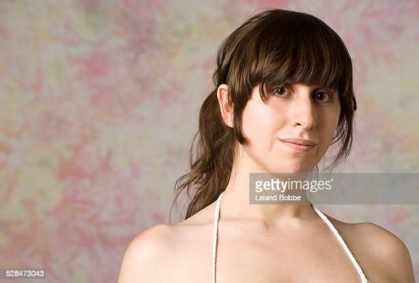 portrait of transgender woman - spaghetti straps stock pictures, royalty-free photos & images