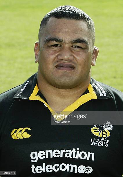 A portrait of Trevor Leota of Wasps during the London Wasps Squad photocall on September 1 2003 in Acton London England
