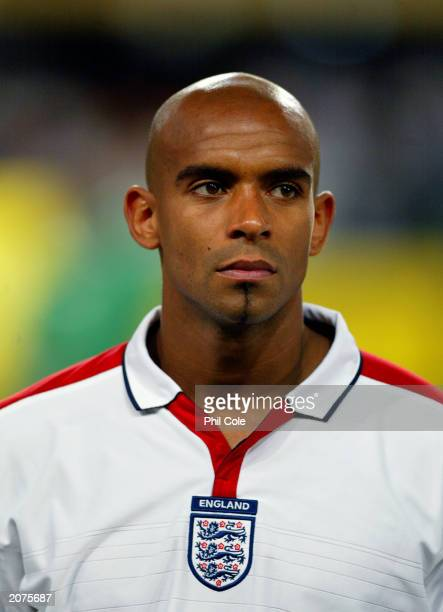 Portrait of Trevor Sinclair of England taken before the International Friendly match between South Africa and England held on May 22 2003 at The ABSA...