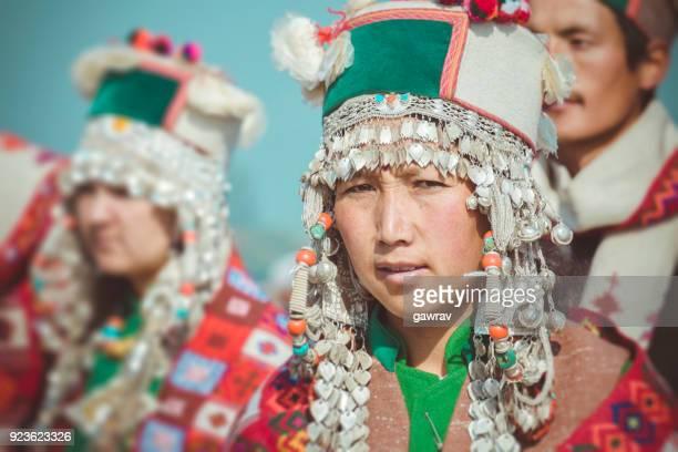 Portrait of tribal young woman of Kinnaur.