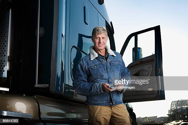 Portrait of truck driver