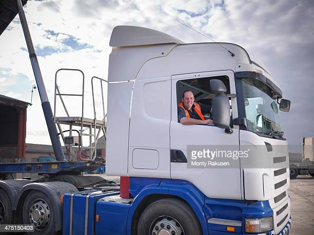 Portrait of truck driver, smiling
