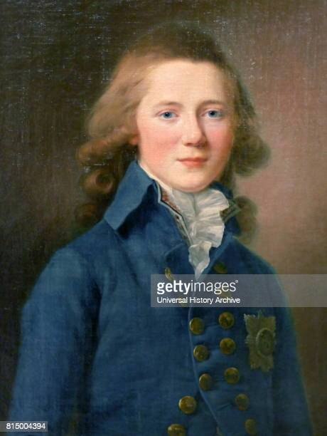 Portrait of Tsar Alexander I as a Boy By Jean Louis Voills Oil on canvas Alexander I reigned as Emperor of Russia from 23 March 1801 to 1 December...