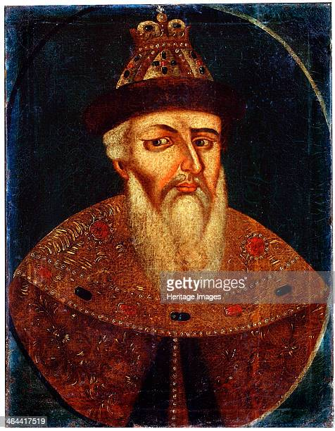 'Portrait of Tsar Ivan IV the Terrible' early 18th century Ivan IV Grand Prince of Moscow became the first Tsar of Russia in 1547 Found in the...