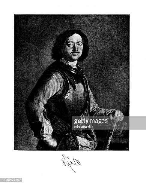 portrait of tsar peter i the great (1672-1725), emperor of russia - duke stock pictures, royalty-free photos & images