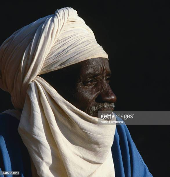 Portrait of Tuareg man, Sahel region near Agadez.
