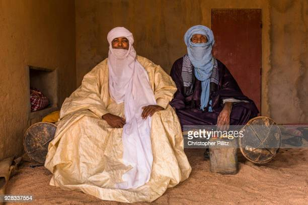 Rhissa Feltou, mayor of Agadez city vists his father Feltou Mohamed Dayak, 90 at their ancestral home in the Tidene region of north central Niger.