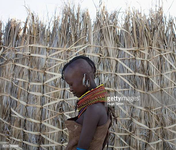 portrait of turkana woman - hugh sitton stock pictures, royalty-free photos & images