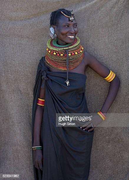portrait of turkana womana - hugh sitton imagens e fotografias de stock