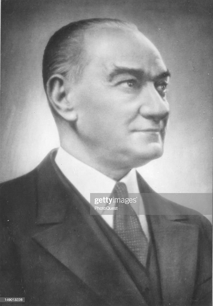 Portrait of Turkish politician and the first President of the Turkish Republic Mustafa Kemal Ataturk (1881 - 1938), early to mid 20th century.