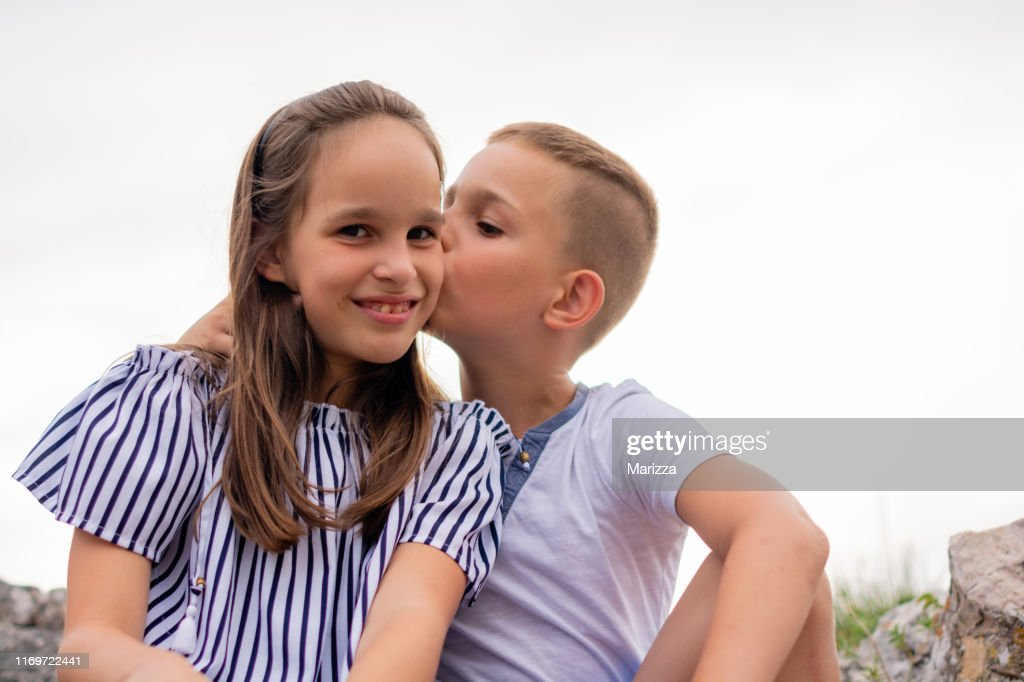 Portrait Of Brother And Sister High-Res Stock Photo
