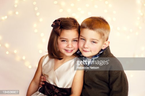 Portrait Of Twins Boy And Girl Stock Photo Getty Images