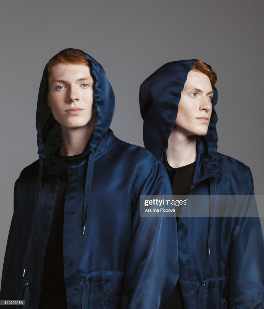 Portrait of twins : Stock Photo