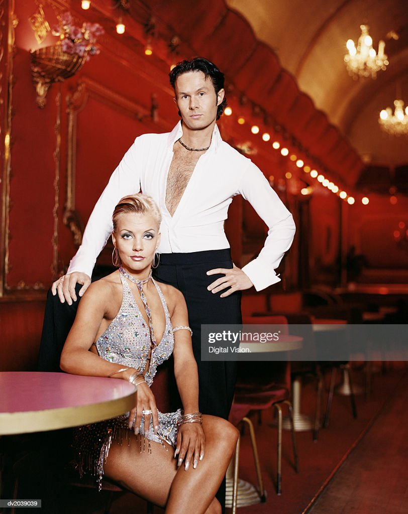Portrait of Two Ballroom Dancers : Stock Photo
