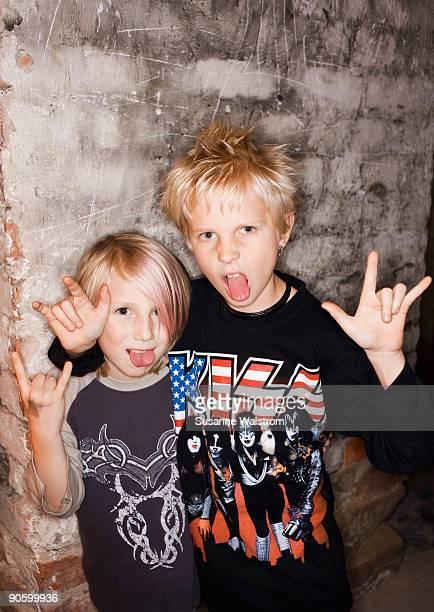 Portrait of two boys Sweden.