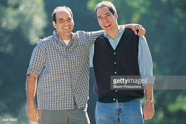 portrait of two brothers - brother stock pictures, royalty-free photos & images