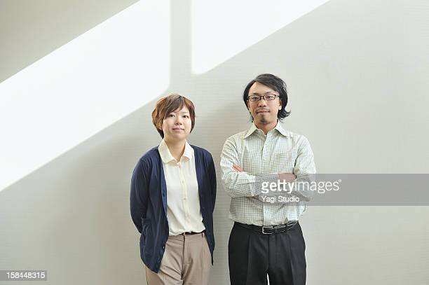 portrait of two business people - two people ストックフォトと画像