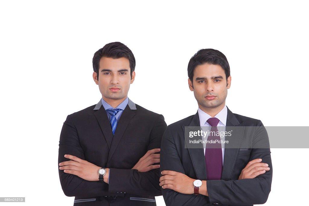 Portrait of two businessmen : Stock Photo