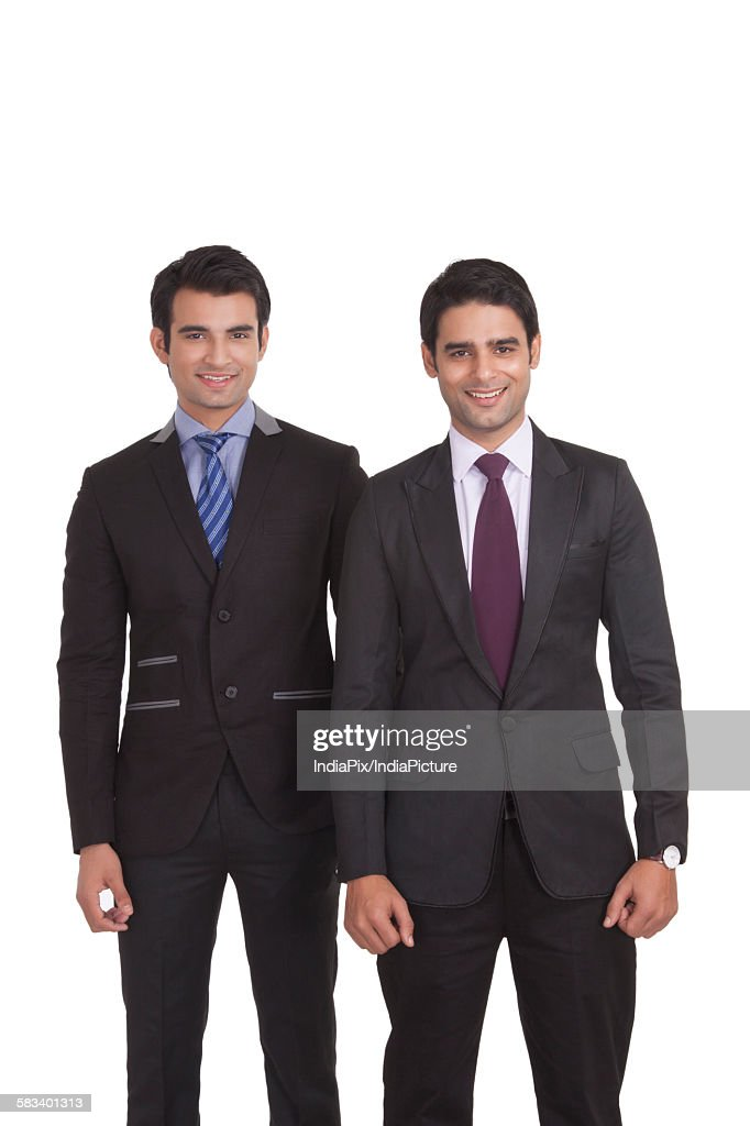 Portrait of two businessmen smiling : Stock Photo