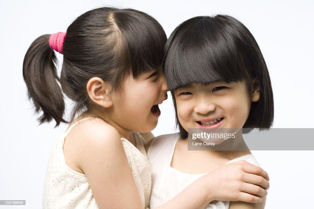 Portrait of two children : Stock Photo