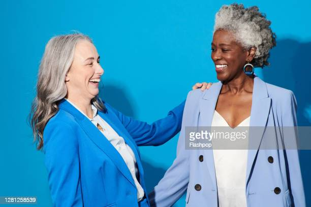 portrait of two confident, successful professional women - freedom stock pictures, royalty-free photos & images