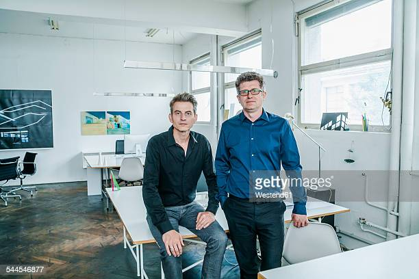 Portrait of two designers in their studio