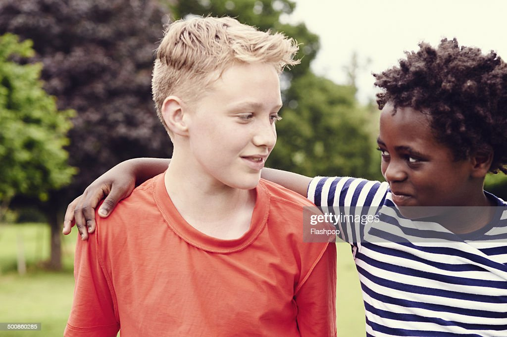 Portrait of two friends together : Stock Photo