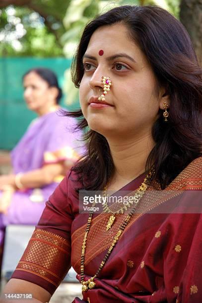 Portrait of two Indian women